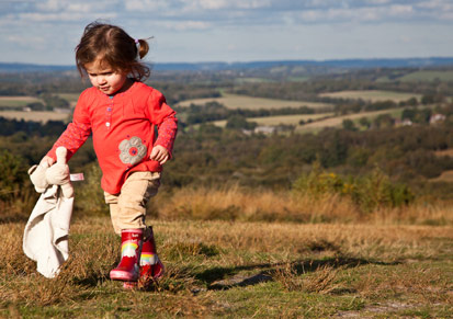 child walking on Ashdown